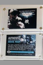 Batman The Dark Knight Rises Card Screen Used Movie Prop ~ Gotham City Snow