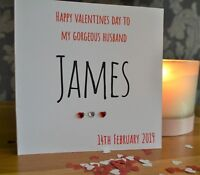 ❣️Personalised Any name Valentines Day Card Anniversary Wedding Birthday Card