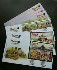 Local Markets Malaysia 2010 Place Tourist Culture Fruits Vegetables (FDC set)