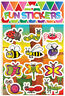 6 Insect Sticker Sheets - Pinata Toy Loot/Party Bag Fillers Wedding/Kids