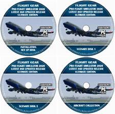 Pro Flight Simulator 2020 Pilot Training Flight Sim For Windows PC & MAC OSX DVD