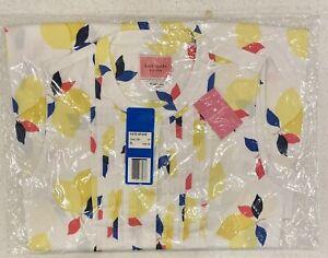 NWT & SEALED $199 XL Kate Spade Lemon Zest Shirtdress 🍋 12 14 16 Cotton Dress