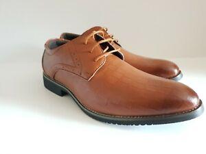 Brand new men's boys smart business wedding party oxford shoes Tan - Bargain