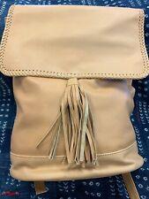 Sensea Moss Leather Backpack, Tan, Brand New
