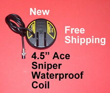 "New Ace Sniper Waterproof 4.5"" Coil * Garrett Metal Detector * Free Shipping"