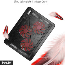 Laptop Cooling Pad 15.6-17 Inch, Slim Portable USB Powered, 3 Ultra-Quiet Fans