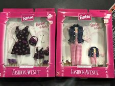 RARE FASHION AVENUE MATCHING STYLES BARBIE & KELLY DOLL OUTFIT MATTEL