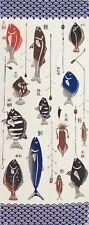 Japanese Chusen Tenugui/Tea Towel/Washcloth Hand Died - Angler'S Treasure