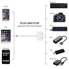 Lightning 2 in 1 USB 3 Camera Reader Adapter for iPhones iPad Keyboard Hub