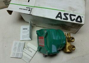"NF B321A001 ASCO SOLENOID VALVE AIR WATER LT OIL.7-14 PSI 1/4"" 24 VOLT DC NOS"