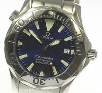 OMEGA Seamaster Professional 300 2263.80 Blue Dial Quartz Boy's Watch_494409