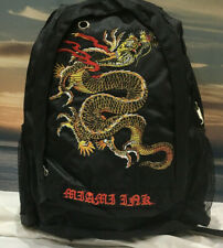 MIAMI INK  BACK PACK WITH DRAGON DESIGN. NEW WITH LABELS