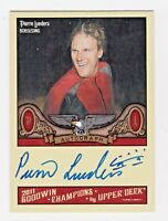 2011 Goodwin Champions Autograph Pierre Lueders Bobsledding Canada HOF