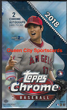 2018 Topps Chrome Baseball Factory Sealed Hobby Box