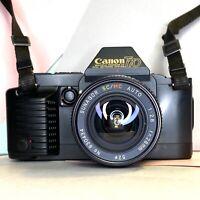 Canon T70 Film Camera SLR w/ Sunagor SC/MC 28mm F2.8 Lens Film Tested! Working!