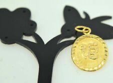 22k Jewelry Solid Gold SIKHI ONKAR KHANDA pendant locket mf