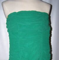 Dress Camila Clothing Size S Green Strapless Dress, Ruchings Spaghetti Straps