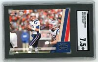 2011 Panini Threads #90 Tom Brady SGC 7.5 Graded Football Card GOAT