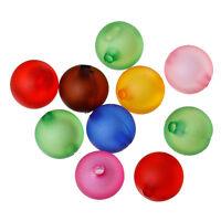 Lot 10 Perles en Acrylique 12mm Mixte perle dans perle creation bijoux collier