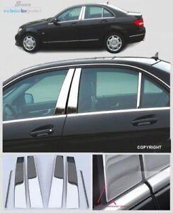 Schätz ® Edelstahl B-Säule Verkleidung Chrom Mercedes C-Klasse W204 Limousine