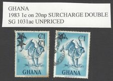 Ghana 1983 1c on 20np SURCHARGE DOUBLE used SG 1031ac UNPRICED
