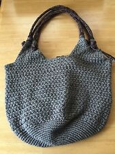 The Sak Crocheted Shoulder Bag Purse - Olive Green - pre-owned