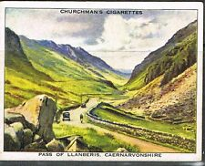 Cigarette Cards. Churchman's 1938. Holidays. Llanberis Pass. No. 27.