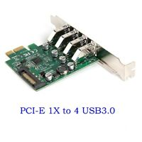 PCI-E to 4port USB3.0 HUB Adapter Expansion Card with Low Profile Bracket 5Gbps