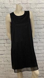 ANNALEE + HOPE WOMEN'S DRESSY BLACK SLEEVELESS DRESS SIZE L