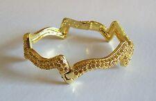 Pretty Gold Rhinestone Zig Zag Bracelet