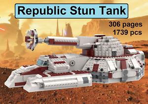 *custom* for Lego Star Wars Republic Stun Tank - INSTRUCTION MANUAL ONLY