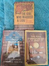 Alexander McCall Smith,  SIGNED m, 3 First Editions