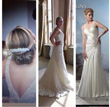 Ivory Madeline Gardener Wedding Dress 12 38007 Straps Floor Length Sequins