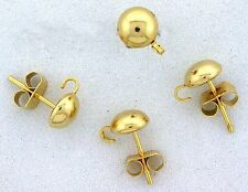 TEN 6MM FLAT BALL POST GOLDPLATED LOOP DANGLE EARRING FINDING MOUNTING CF265