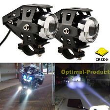 2x Motorcycle Bike Chopper Cree Led Drl Driving Fog Spot Head Light Add on Lamp (Fits: More than one vehicle)