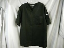 Grey's Anatomy Black Scrub Top, Breast Pocket, Sleeve Pocket, Size M Men's