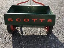 "Scotts 35-4 Classic Metal DROP SPREADER Lawn Fertilizer Green Vintage 17.5"" USA"