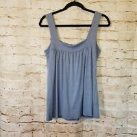 Michael Stars Blue Billowy Tank Top Blouse One Size Fits Most
