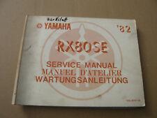 Yamaha RX80 SE Wartungsanleitung Stand 1982_Service Manual_Manuel D ´ Atelier