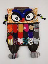 Ethnic-Handmade-Patchwork** Owl* Cotton Backpack/School Bags