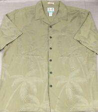 Reyn Spooner Hawaiian Shirt Palm Tree Regency Silk & Linen Mens L Large
