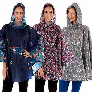 ProClimate Womens Shower Proof Poncho Ladies Festival Rain Coat Jacket In A Bag