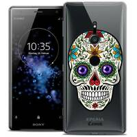 "Coque Crystal Gel Pour Sony Xperia XZ2 (5.7"") Souple Skull Maria's Flower"