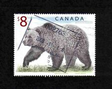 Canada 1997 $8 Grizzly Bear single value (SG 1762a) used