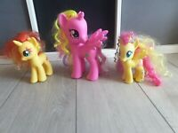 "My Little pony MLP Pink Unicorn Pegasus large 8"" Princess Cadence bundle x 3"