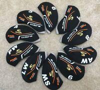 10PCS Black Neoprene Cobra King Forged Golf Iron Covers HeadCovers UK Stock