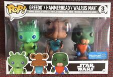 Funko POP! Star Wars Greedo Hammerhead Walrus Man 3 Pack Walmart Exclusive