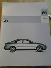 Volvo S60 range brochure Dec 2003