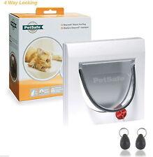 PetSafe Staywell 32 White Magnetic Cat Flap Door 932 & Inc Two key 4 way locking