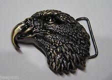 Bronce US American Eagle Cabeza Vaquero hebilla de cinturón para poner en 3d